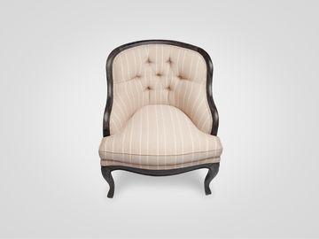Кресло «Чарли» в нежную полоску в классическом стиле