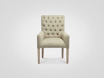 Кресло «Гавана» с высокой спинкой в классическом стиле бежевого цвета