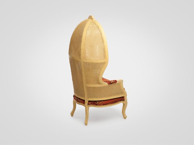 Кресло «Парабола»  в яркой обивке, в стиле прованс из натурального дерева