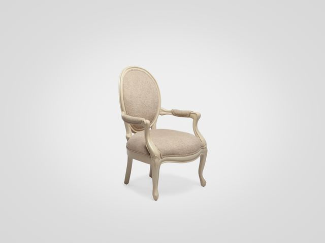 Кресло «Филипп» со спинкой медальон в стиле прованс