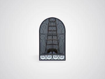 Зеркало декоративное в железной раме в стиле прованс