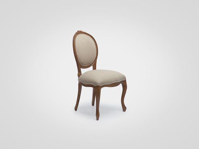 Стул «Селин» в классическом стиле с мягкой спинкой-медальон