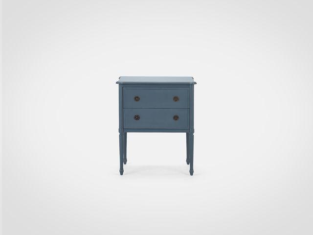 Комод «Роман» с двумя ящиками глубокого синего цвета в  скандинавском стиле