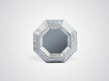 Зеркало в стиле арт-деко из зеркального стекла в цвете серебро