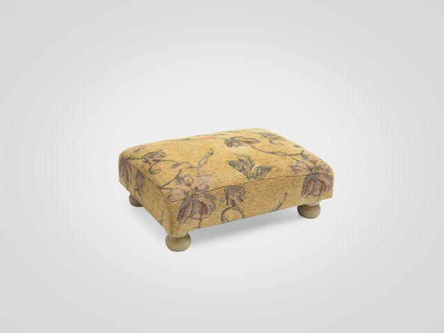 Банкетка для ног. в желтой обивке, в стиле прованс