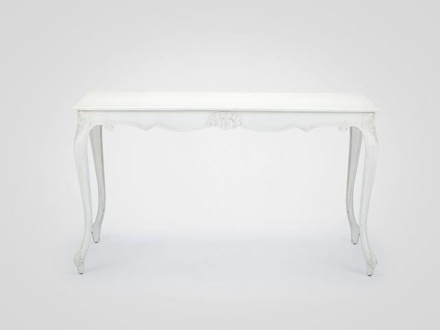Стол обеденный «Августин» прямоугольный в стиле прованс белого цвета