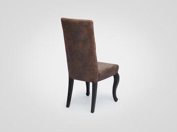 Стул в американском стиле коричневого цвета с высокой спинкой