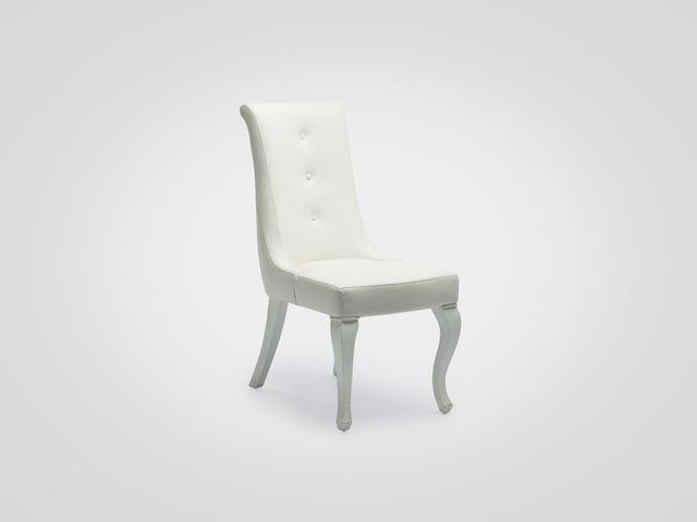 Стул (экокожа) СПЕНСЕР в белом цвете обивка эко-кожа американский стиль