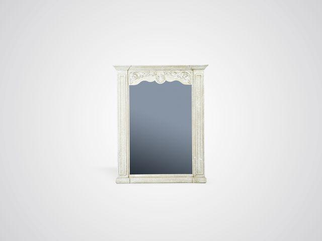 Зеркало резное из дерева в стиле прованс