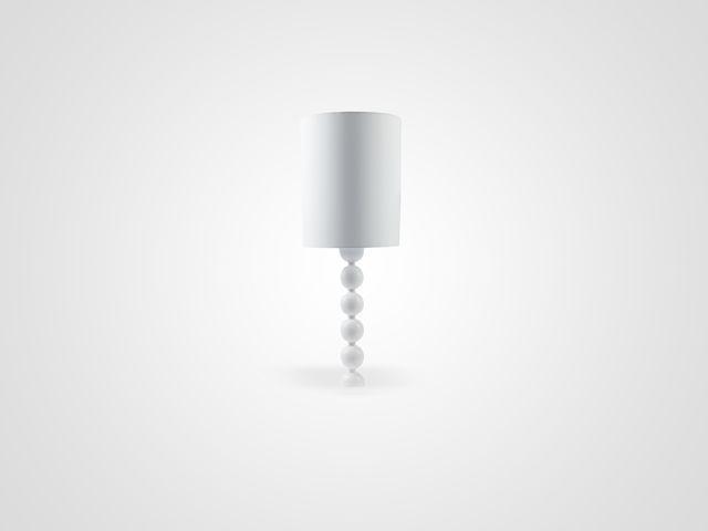 Лампа настольная высокая