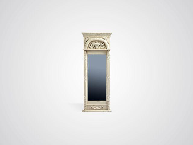 Зеркало «Лион» в резной раме из дерева в стиле прованс