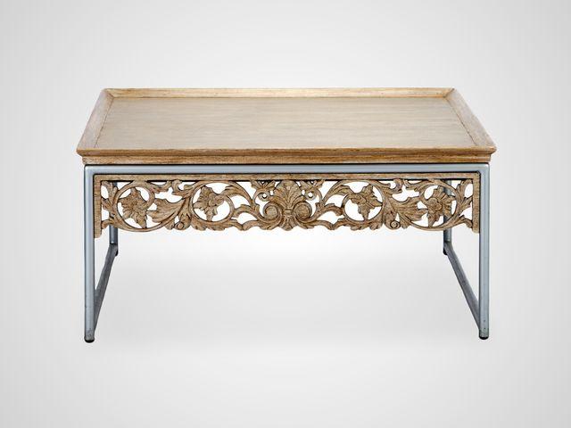 Стол кофейный «Модерн»  с металлическим основанием в классическом стиле