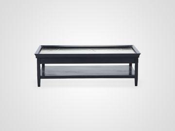 Стол кофейный ДАЛЛАС в стиле Лофт, столешность из металла